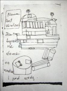 4 pav. Kazė Zimblytė. Piešiniai. 8 dešimtmetis. Vildžiūno fotografija.