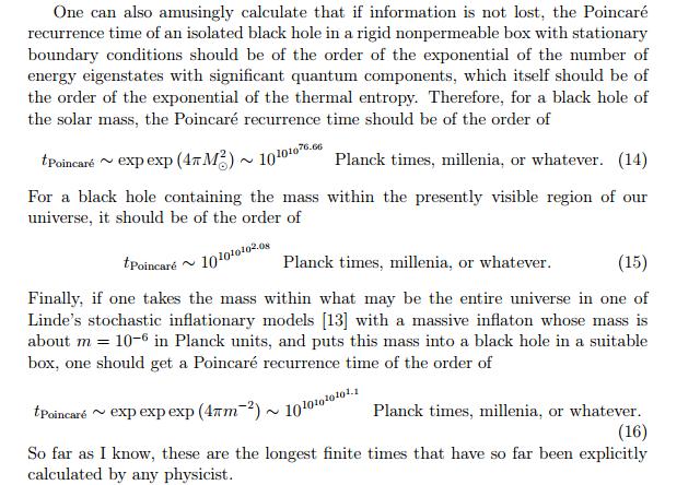 Atsikartojimo laikas. Planko laikai ar tūkstantmečiai - nelabai svarbu. ©Don Page 1994