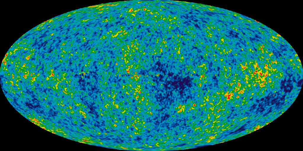 Pav. 3 Infliacijos paveiktos visatos spinduliuotės modelis