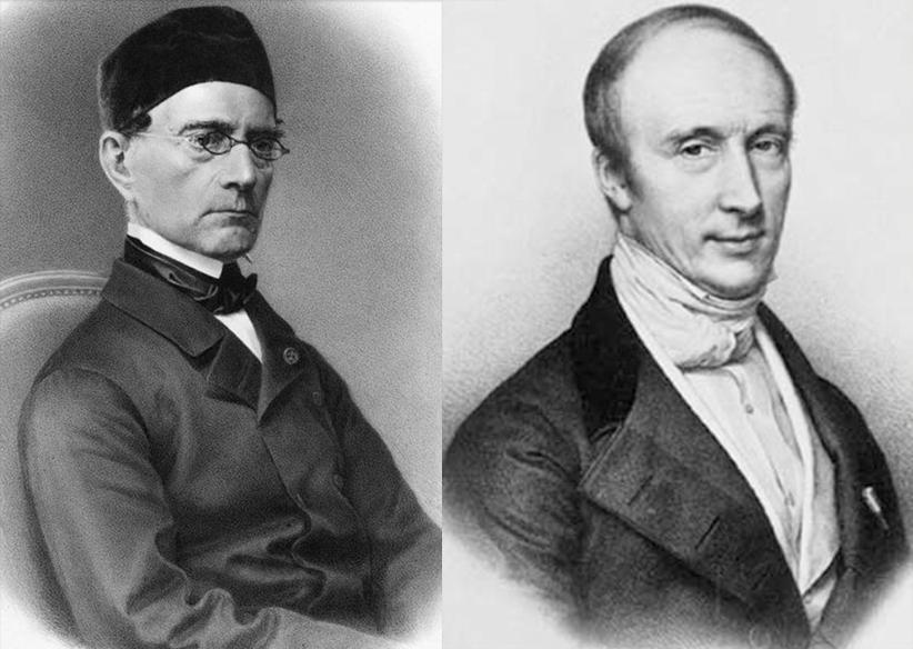 Kairėje - Gabrielis Lame (1795-1870); dešinėje - Ogiustas Koši (1789-1857)