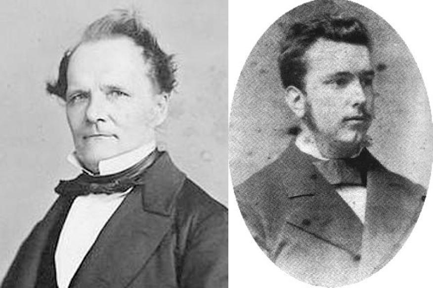 Kairėje - Ernstas Kumeris 1810-1893); dešinėje - Polis Volsfkelis (1856-1906)