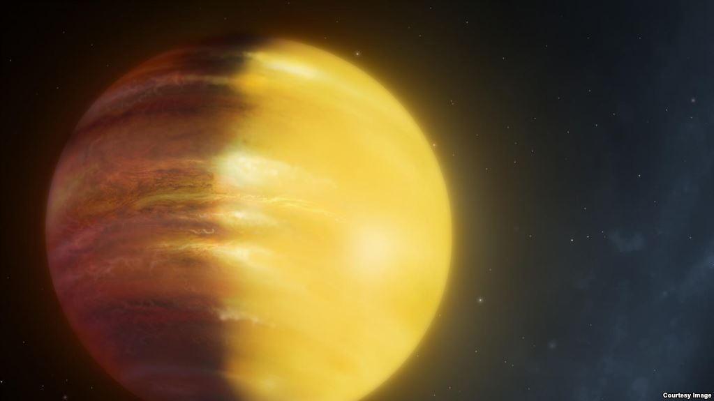 Galimai taip atrodytų debesuota dujinė egzoplaneta. ©University of Warwick
