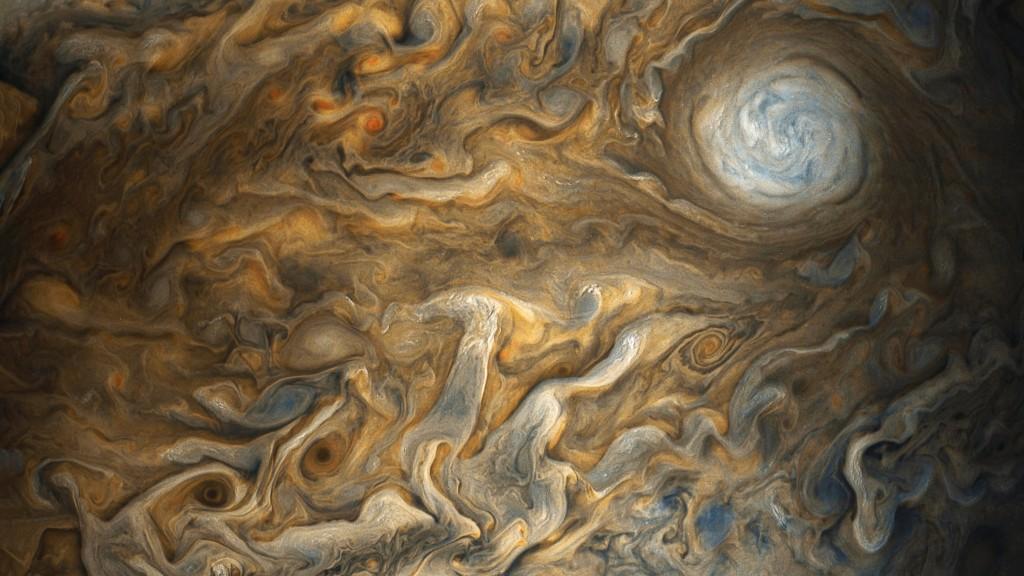Jupiterio debesys. ©NASA / SwRI / MSSS / Gerald Eichstädt / Seán Doran