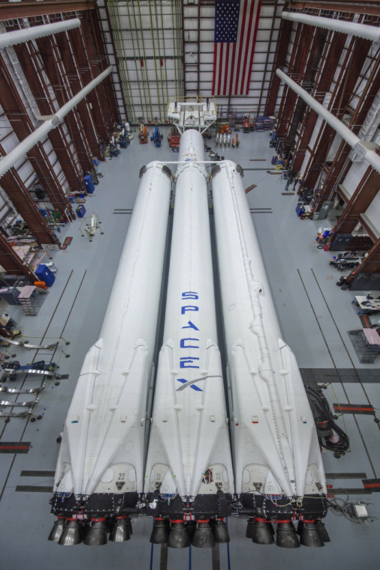 Falcon Heavy raketa. Šaltinis: Elon Musk Twitter