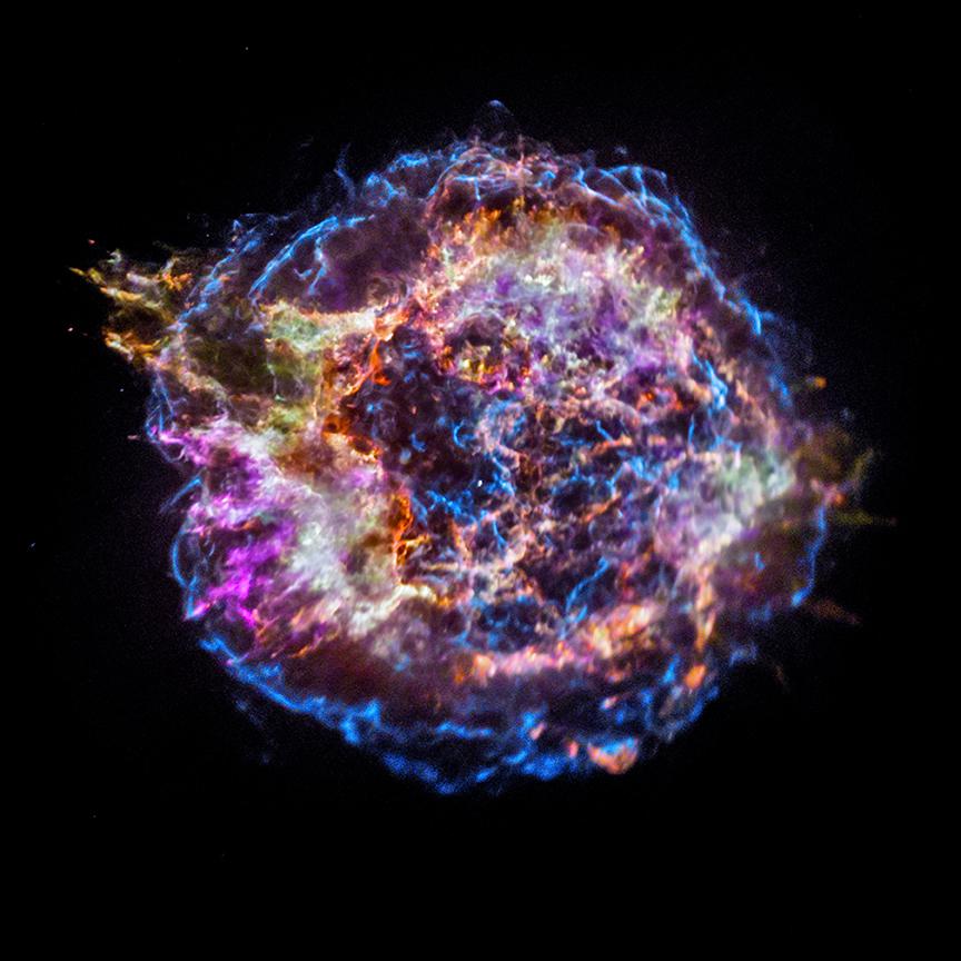 Kasiopėjos A supernovos liekana. Šaltinis: CXC/NASA