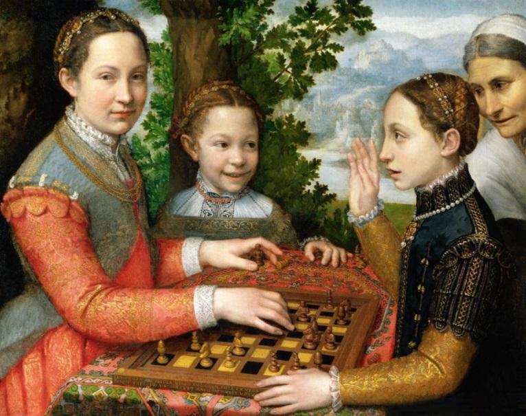 """Sofonisba Angisola """"Žaidimas šachmatais"""""""