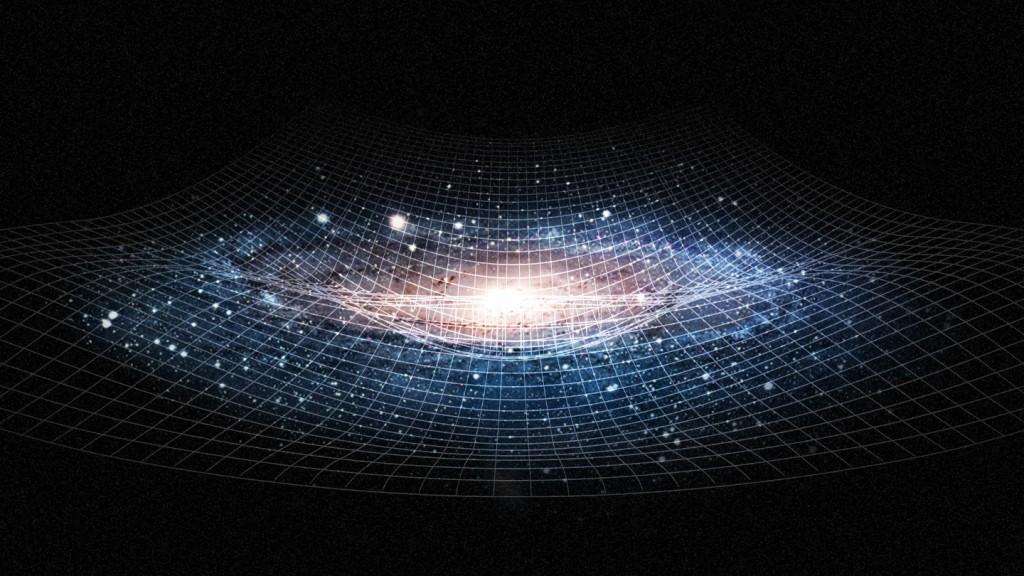 Galaktikos, kaip ir kiti daiktai, iškreipia erdvę ir laiką, o tą aprašyti padeda metrikos. Šaltinis: Quanta magazine