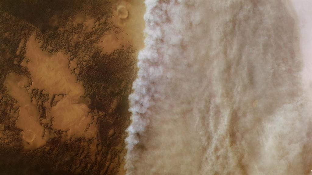 Audros frontas Marse. ©ESA/DLR/FU Berlin