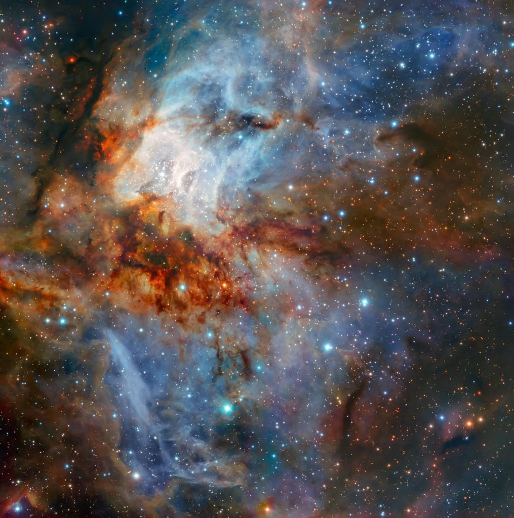 Žvaigždžių spiečius RCW 38, nufotografuotas nauju Labai didelio teleskopo prietaisu HAWK-I. ©ESO/K. Muzic