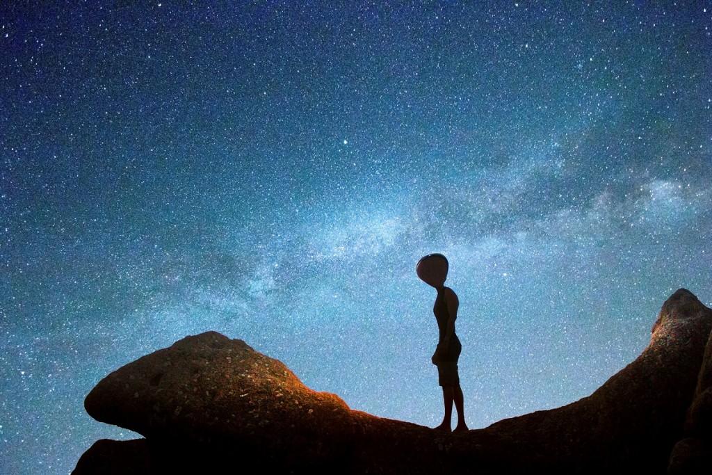Vienišas ateivis spokso į žvaigždes. Šalt. – Apostoli Rossella, Getty Images