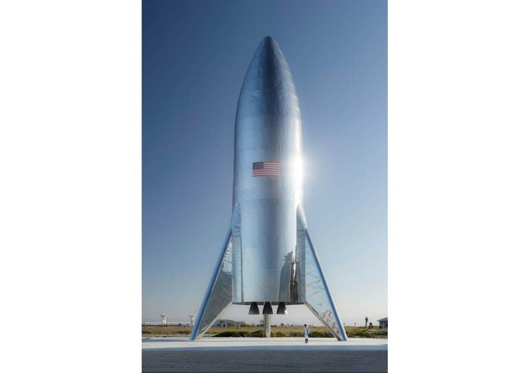 Naujausias SpaceX erdvėlaivis – Starship. Šaltinis: SpaceX